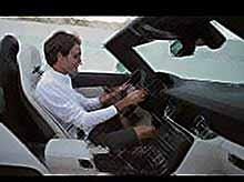 Роджер Федерер тестирует новый родстер SLS AMG 2012 модельного года. (видео)