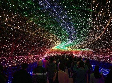 Самая масштабная световая инсталляция в мире открылась в Японии